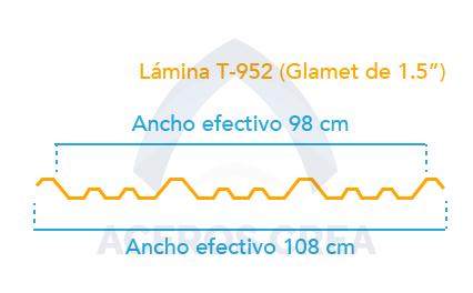 Estructura del acanalado T-952