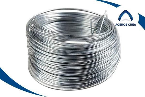 Rollo de alambre con recubrimiento de zinc