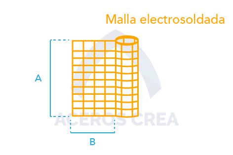 Estructura malla electrosoldada