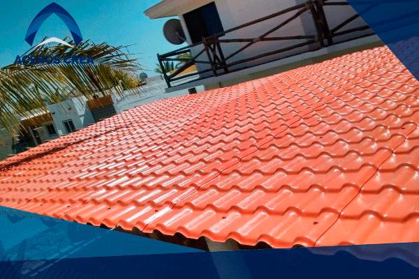 Cubierta de lámina tipo teja